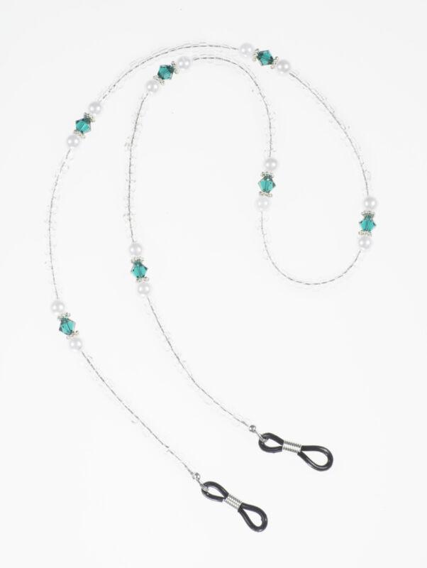 Beaded Birthstone and Pearl Eye Glass Holder- Handmade Birthstone Eyeglass Chain