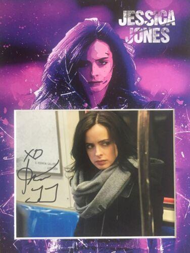 "Krysten Ritter ""Jessica Jones"" signed 16x12 mount display AFTAL & UACC [14520]"