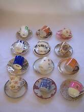 Miss Matched Demitasse Cup & Saucer x 12 Shabby Chic CAN POST Wynyard Waratah Area Preview