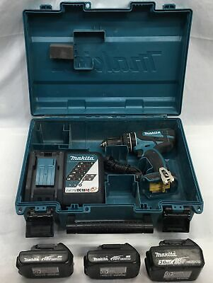 Makita 18v Lithium Ion Battery 3.0ah Hammer Driver Drill Xph012 3 Batteries