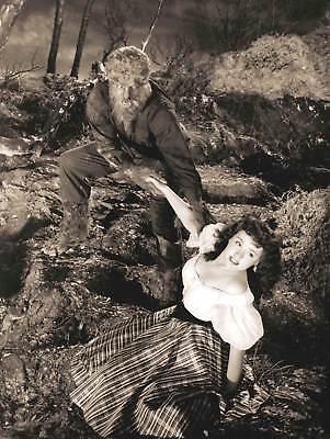 Halloween Graph Art (PHOTOGRAPH FILM BLACK WHITE MONSTER HALLOWEEN WOLFMAN WEREWOLF ART PRINT)
