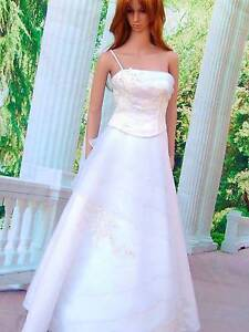 Pure white deb wedding dress on sale,straight skirt,A-line, S M Sorrento Mornington Peninsula Preview