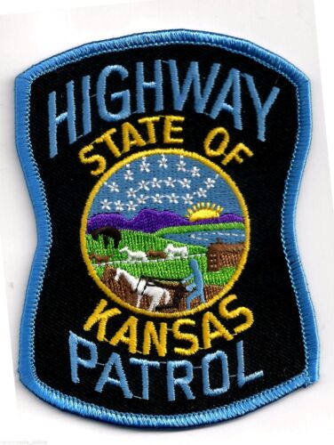 KANSAS HIGHWAY PATROL - SHOULDER PATCH - IRON OR SEW-ON PATCH