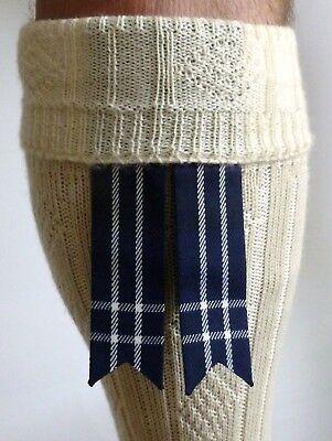 KILT HOSE SOCK FLASHES HERITAGE OF SCOTLAND TARTAN POINTED HIGHLAND KILWEAR KILT