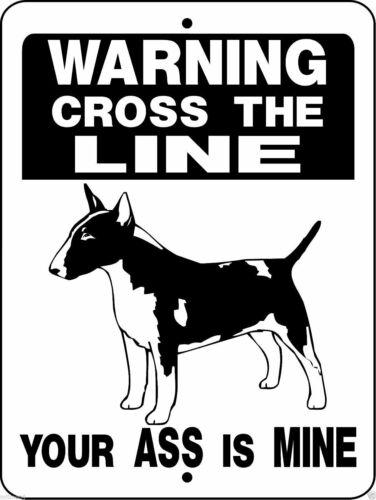 "0337 Bull Terrier 9""x12"" Aluminum Sign"