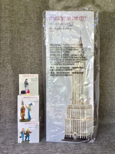 Dept 56 Lot of 4: The CHRYSLER BUILDING + 3 Coordinating Accessories CIC New D56