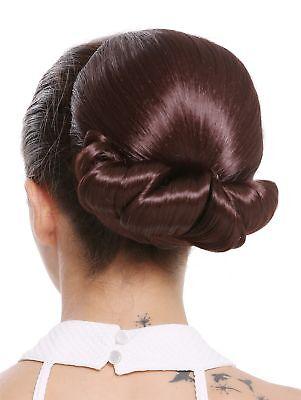 Haarteil Dutt Haarknoten groß Omadutt Oma Tracht Retro Vintage Rotbraun Braun
