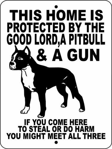 "0585 Pit Bull Terrier 9""x12"" Aluminum Sign"