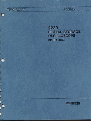 Tektronix 2230 Digital Storage Oscilloscope Ops Manual Loc.tek 161