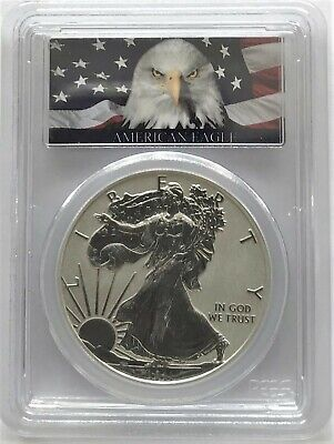 2011 P SILVER EAGLE REVERSE PROOF 25TH ANNIV. FIRST STRIKE PCGS PR70 EAGLE FLAG