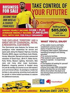 COURIER JOB COURIER BUSINESS COURIERS PLEASE FRANCHISE FOR SALE Mulgrave Monash Area Preview