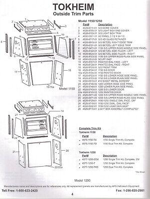 Tokheim 1250 Single Trim Kit