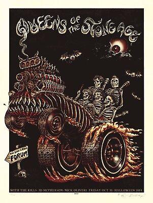 MINT EMEK Queens Of The Stone Age LA Forum HALLOWEEN BONE Poster 13/100