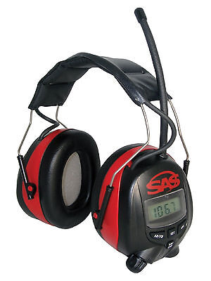 Sas Safety Digital Earmuff Hearing Protection W Amfm Radio And Mp3 Comfty New