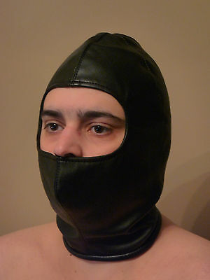 SALE Faux Leather GWENDOLINE GWEN HOOD Open Face Mask Zip Up Balaclava Haloween - Haloween Sale