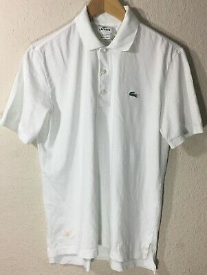 Lacoste Men's Short Sleeve White Polo Shirt Size 3 US (Small)