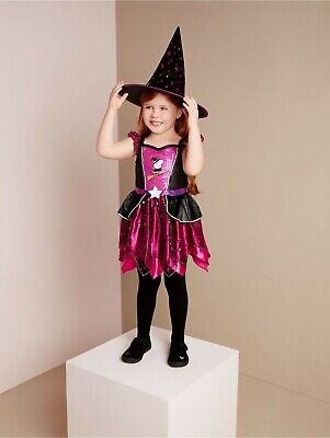 BRAND NEW AND UNWORN ( Peppa Pig Halloween Pink Witch  Dress Costume ) Girls