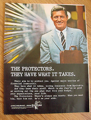 1967 Equitable Life Insurance Ad The Protectors They Have What It Takes