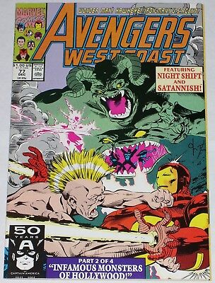Avengers West Coast #77 from Dec 1991 VF+ to NM-