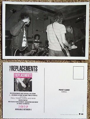 THE REPLACEMENTS POSTCARD Live At Maxwell's 1986 Promo 2-Sided