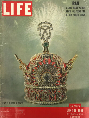 Iran Royal Crown Jewels Headpiece Magazine Print Ad Vintage Original Cover 1951