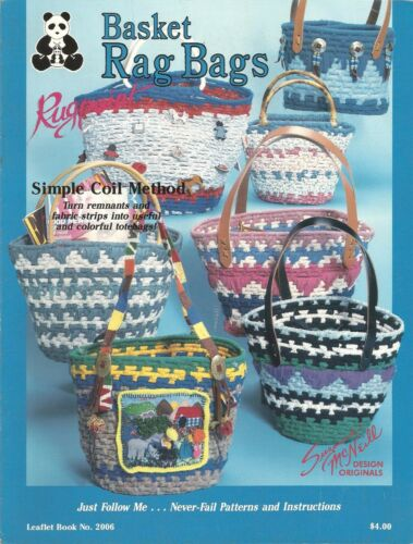 Basket Rag Bags Totes Rugpoint Simple Coil Method Susanne McNeill