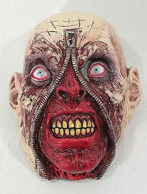Zipper Zombie Latex Face Mask Halloween Fancy Dress Accessory - Halloween Zipper Face Mask