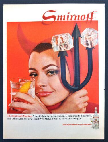 Smirnoff ~ The Smirnoff Martini (Devil) ~ Original Vintage 1968 Print Ad