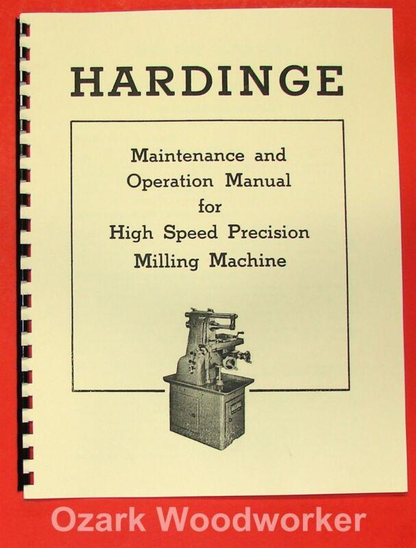 HARDINGE Horizontal Milling Machine Operator
