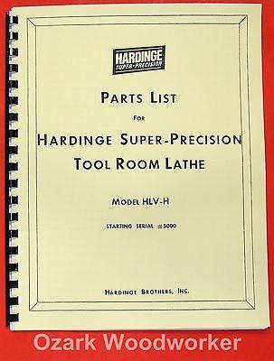 Hardinge Hlv-h Metal Lathe Parts Manual 0344