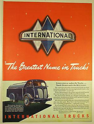 Vintage 1941 INTERNATIONAL HARVESTER TRUCKS Lg Magazine Print Ad: MODEL D-500