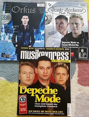 DEPECHE MODE COVER DAVE GAHAN GORE INTERNATIONAL MUSIC MAGS X 3 2003 2005 RARE