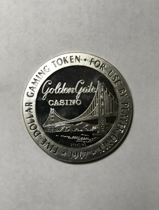 $5 1967 STERLING SILVER GOLDEN GATE CASINO, LAS VEGAS GAMING SLOT TOKEN Lot#A429