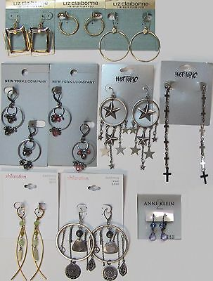 SALE NEW NWT Wholesale Jewelry Lots Fashion Earrings Dangle Liz Claiborne Womens