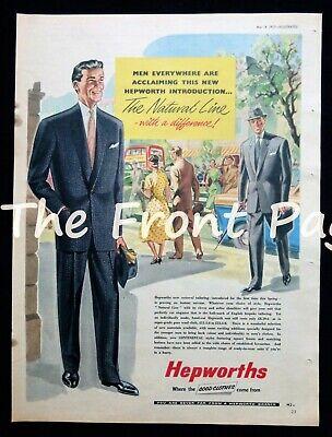 1950s Mens Suits & Sport Coats | 50s Suits & Blazers HEPWORTHS MENS SUIT / CLOTHING / FASHION ORIGINAL 1950s MAGAZINE ADVERT 1957 $9.83 AT vintagedancer.com