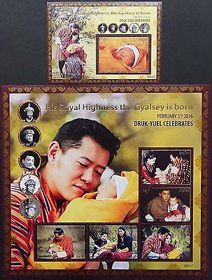 Bhutan 2016 Thronfolger Königshaus Gyalsey Druk-Yuel Royalty ** MNH