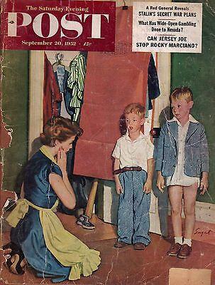 1952 Saturday Evening Post September 20-Nevada Gambling;Rocky Marciano;Sailboats