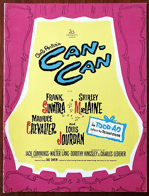 Cole Porter's Can-Can Film Book 1960 Frank Sinatra, Shirley Maclaine