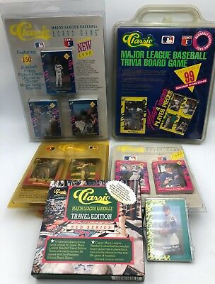 Trivia Card Set - (6) 1988 to 1992 Classic Baseball Card Trivia Game Different Factory Sets