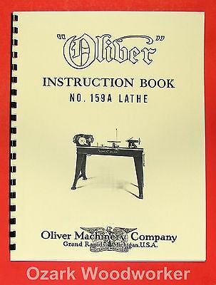 Oliver 1940s 159-a 12 Wood Lathe Operator And Parts Manual 159a 0974