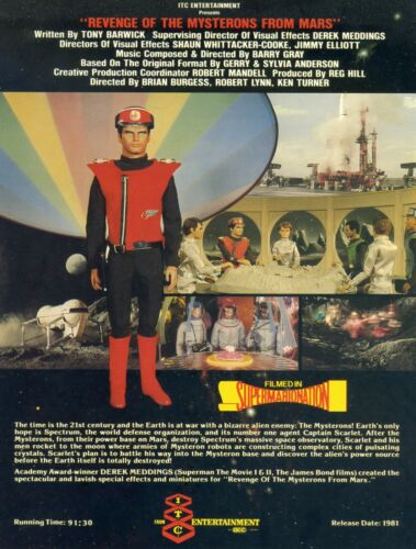 Revenge Of The Mysterons From Mars - Original ITC Flyer