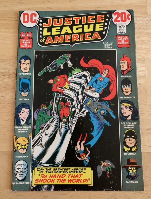 RARE Vintage Justice League Of America #101 DC Comics Justice Society Crossover