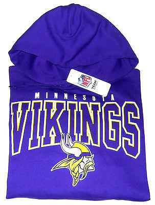 Minnesota Vikings Pullover Hooded Sweatshirt Mens Size Large Nwt
