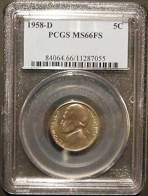 Click now to see the BUY IT NOW Price! 1958 D JEFFERSON NICKEL PCGS66 FS FULL STEPS SIX STEPS