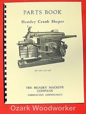 Hendey 16-20-24-28 Metal Shaper Parts Manual 0351