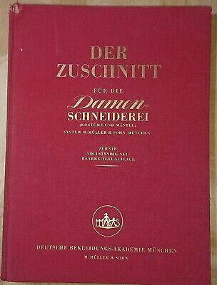 Zuschnitt Damen-Schneiderei (Kostüme und Mäntel) Patterns System Müller 1954