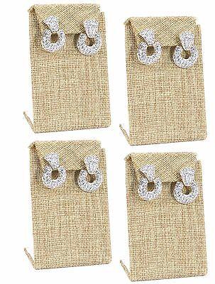 Lot Of 4 Modern Burlap Earring Display Drop Earring Stand Jewelry Display 3 38