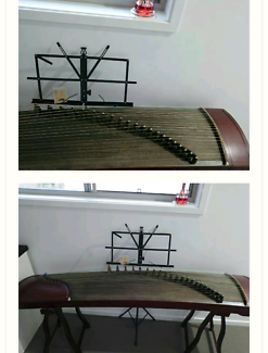 Chinese instrument zither, zheng,  stringed plucked instrument 古筝