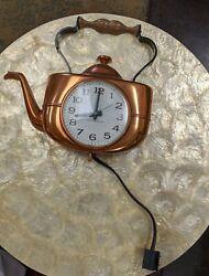 Vintage General Electric Tea Kettle Wall Clock model 2135
