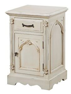 Cream Shabby French Chic Painted Bedroom Furniture Bedside Cabinet